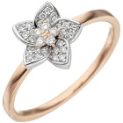 Damen Ring 585 Bicolor Gold Rotgold Weißgold 30...
