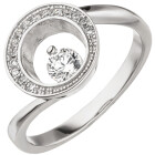 Damen Ring 925 Sterling Silber 16 Zirkonia