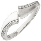 Damen Ring 925 Sterling Silber 24 Zirkonia